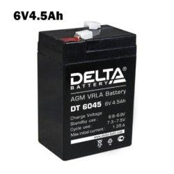 Аккумулятор 6V 4.5AH DELTA DT
